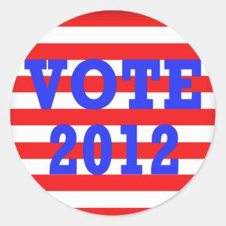 Stripes Vote 2012 Sticker