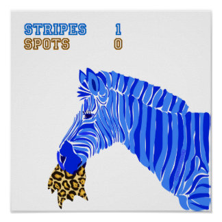 Stripes vs. Spots Poster
