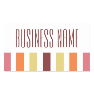 stripes warm colors marsala Double-Sided standard business cards (Pack of 100)