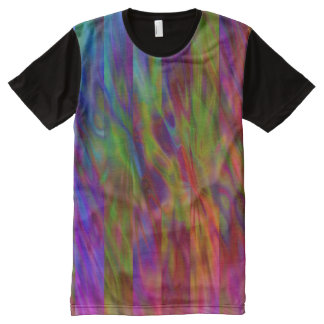Stripes & Waves multi colored + your ideas All-Over Print T-shirt