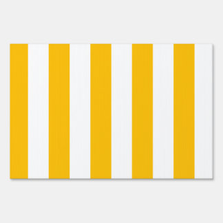 Stripes - White and Amber Lawn Sign