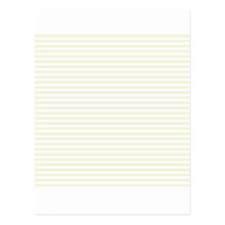 Stripes - White and Beige Postcard