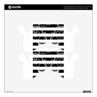 Stripes - White and Black PS3 Controller Skins