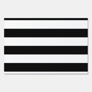Stripes - White and Black Sign
