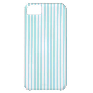 Stripes - White and Blizzard Blue iPhone 5C Cover
