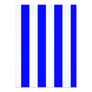 "Stripes - White and Blue 5.5"" X 7.5"" Invitation Card"