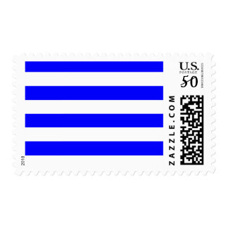 Stripes - White and Blue Postage
