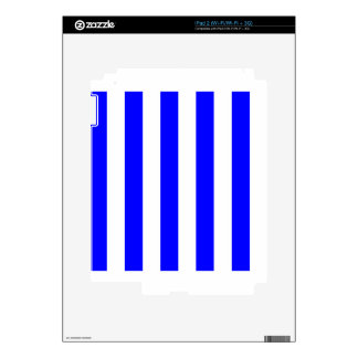 Stripes - White and Blue iPad 2 Decals