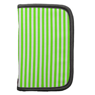 Stripes - White and Bright Green Folio Planners