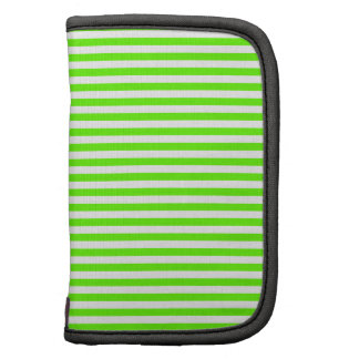 Stripes - White and Bright Green Planner