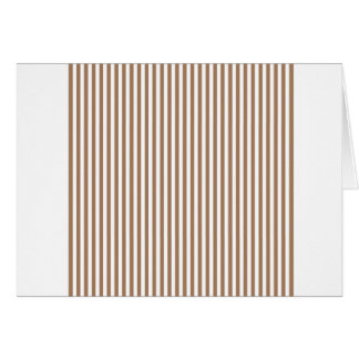 Stripes - White and Cafe au Lait Card