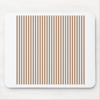 Stripes - White and Cafe au Lait Mouse Pads