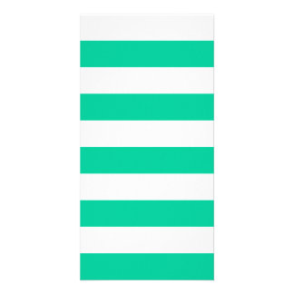 Stripes - White and Caribbean Green Card