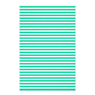 Stripes - White and Caribbean Green Custom Stationery