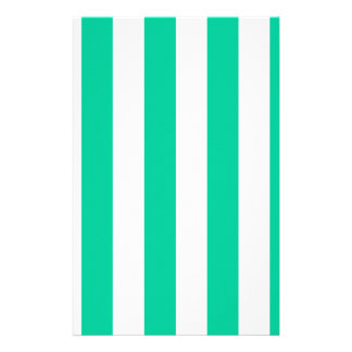 Stripes - White and Caribbean Green Stationery