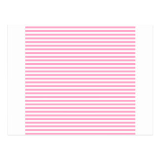 Stripes - White and Carnation Pink Postcard