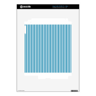Stripes - White and Celadon Blue Decals For iPad 2