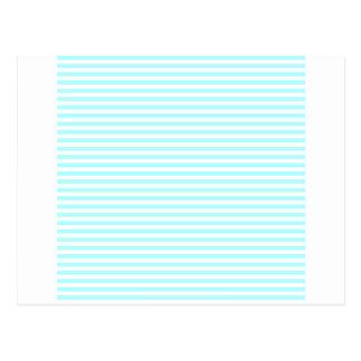 Stripes - White and Celeste Postcard