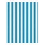 Stripes - White and Cerulean Letterhead Design