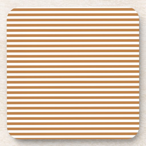 Stripes - White and Copper Coasters