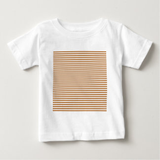 Stripes - White and Copper T Shirt