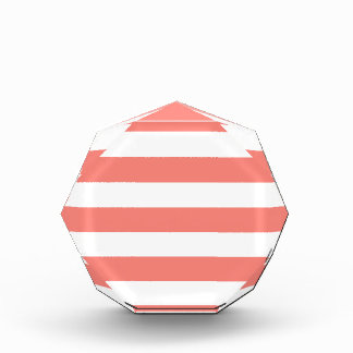 Stripes - White and Coral Pink Award