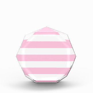 Stripes - White and Cotton Candy Acrylic Award