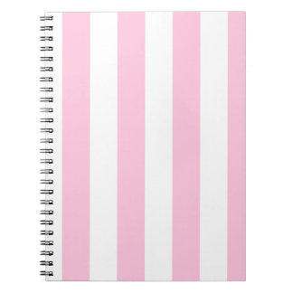 Stripes - White and Cotton Candy Note Books