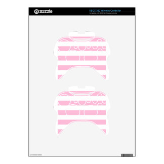 Stripes - White and Cotton Candy Xbox 360 Controller Skin