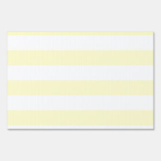Stripes - White and Cream Yard Sign