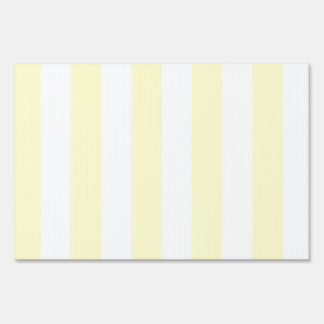 Stripes - White and Cream Sign