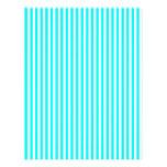 Stripes - White and Cyan Letterhead