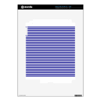 Stripes - White and Dark Blue Decal For iPad 2