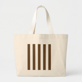 Stripes - White and Dark Brown Bags