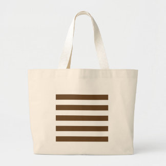 Stripes - White and Dark Brown Canvas Bags