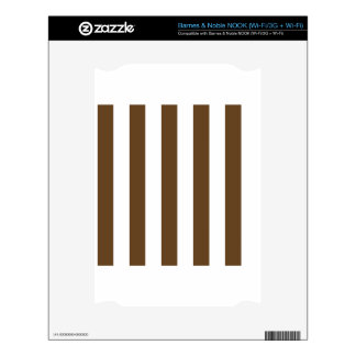 Stripes - White and Dark Brown Decals For The NOOK