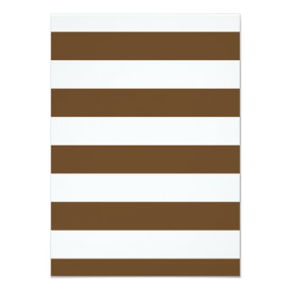 Stripes - White and Dark Brown Personalized Announcement