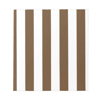 Stripes - White and Dark Brown Memo Pad