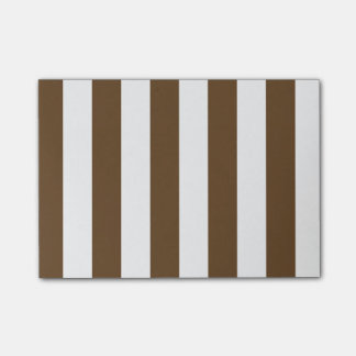 Stripes - White and Dark Brown Post-it® Notes