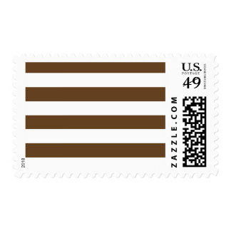 Stripes - White and Dark Brown Postage Stamps