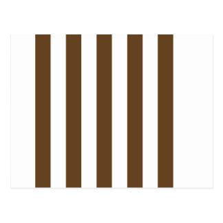 Stripes - White and Dark Brown Postcard