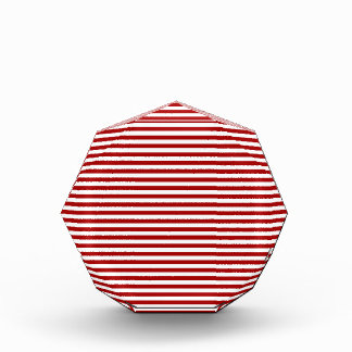 Stripes - White and Dark Candy Apple Red Awards