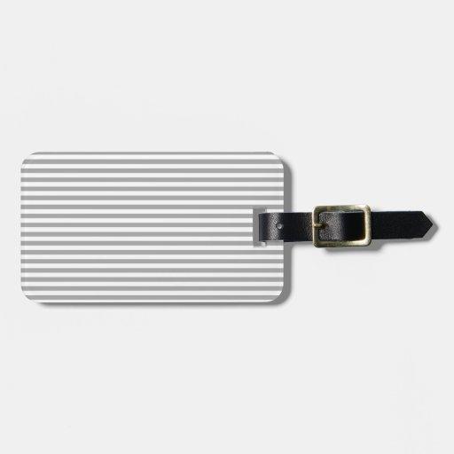 Stripes - White and Dark Gray Bag Tag