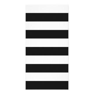 Stripes - White and Dark Gray Photo Greeting Card