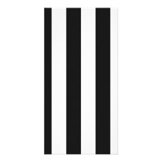 Stripes - White and Dark Gray Picture Card