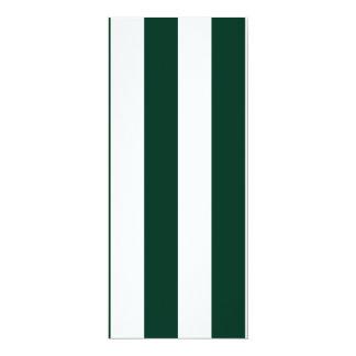 Stripes - White and Dark Green Invitation