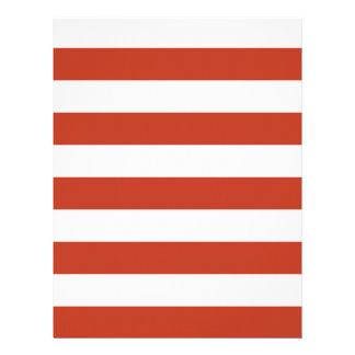 Stripes - White and Dark Pastel Red Letterhead