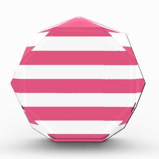 Stripes - White and Dark Pink Award