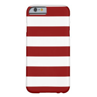 Stripes - White and Dark Red Barely There iPhone 6 Case