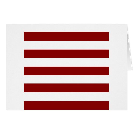 Stripes - White and Dark Red Greeting Card